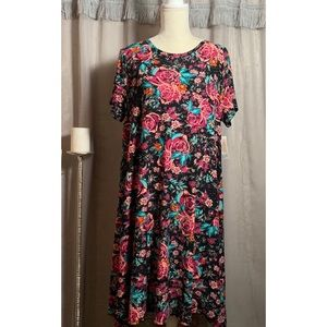 SALE! Lularoe Bright Floral Carly NWT Large